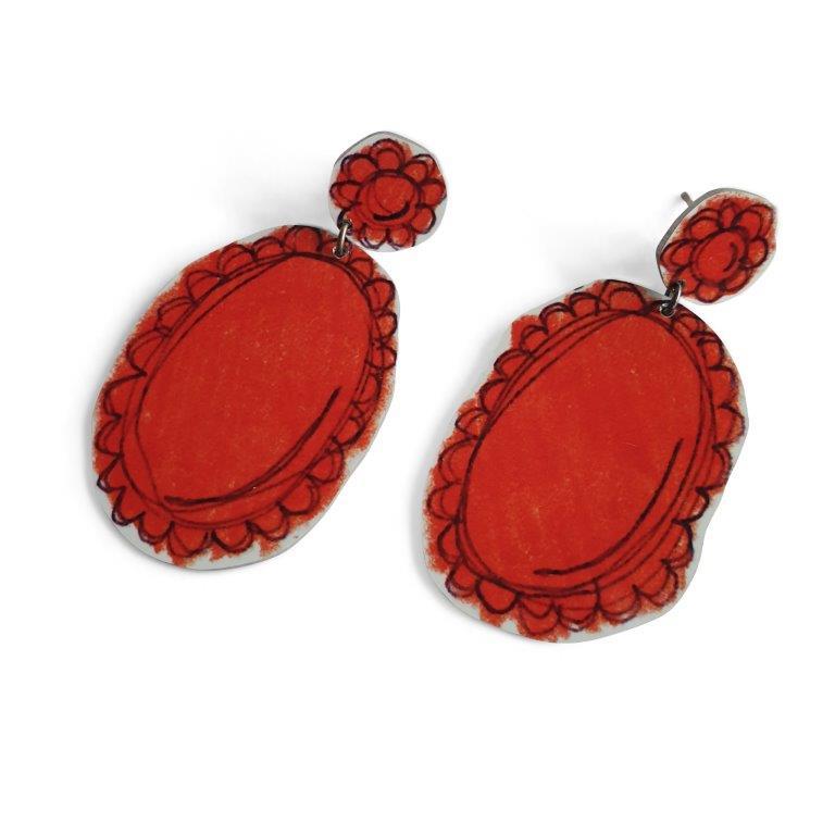 Lisa Furno red earrings