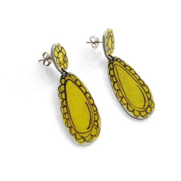 Lisa Furno yellow earrings