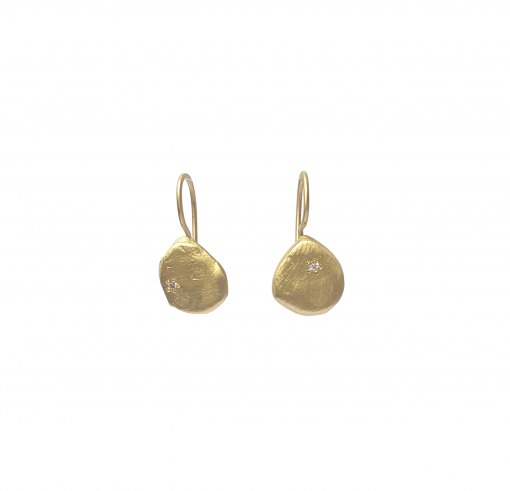 gold and diamond drop earrings
