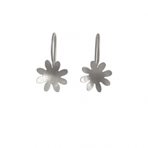 sterling silver 8 petal flower earrings