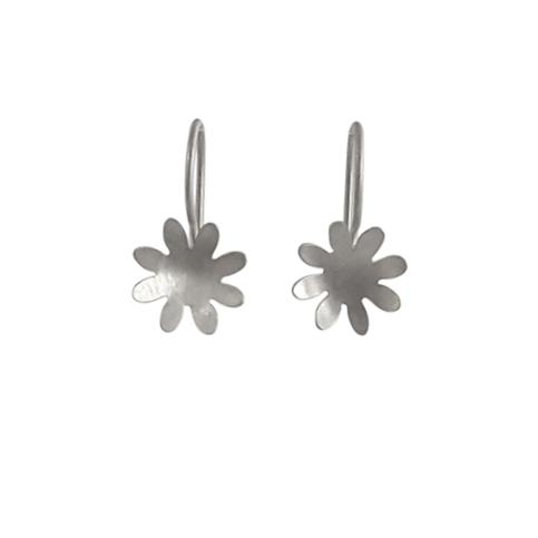 sterling silver 8 petal flower earrings