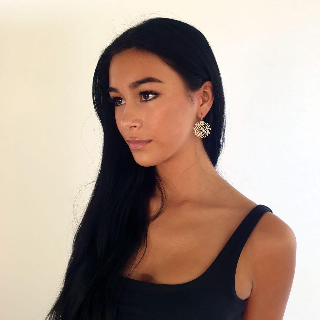 big melt earrings