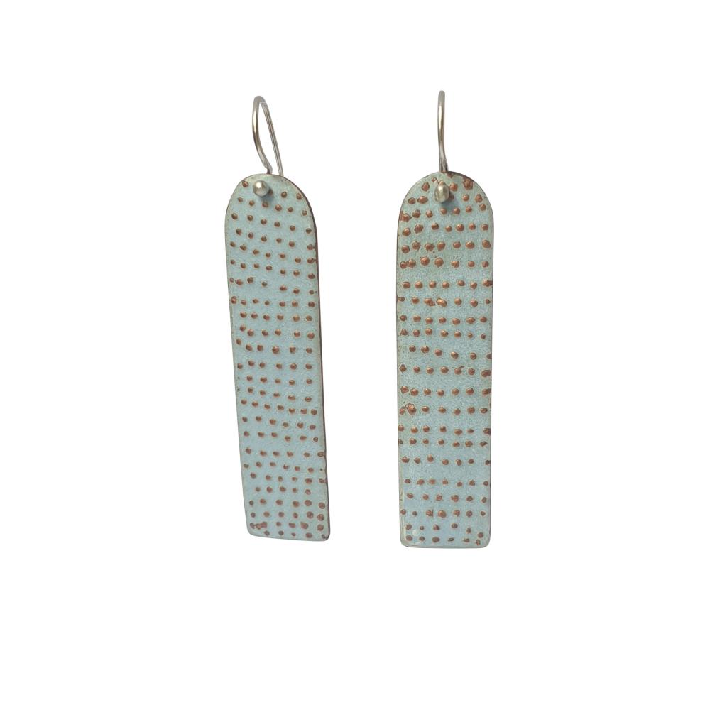 pale blue dotty earrings