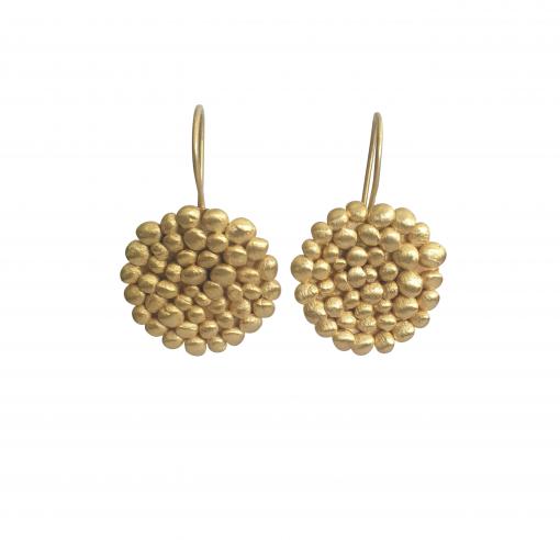 large gold pebble drop earrings