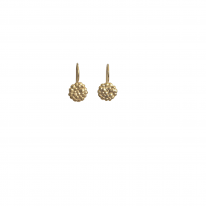 small gold drop pebble earrings