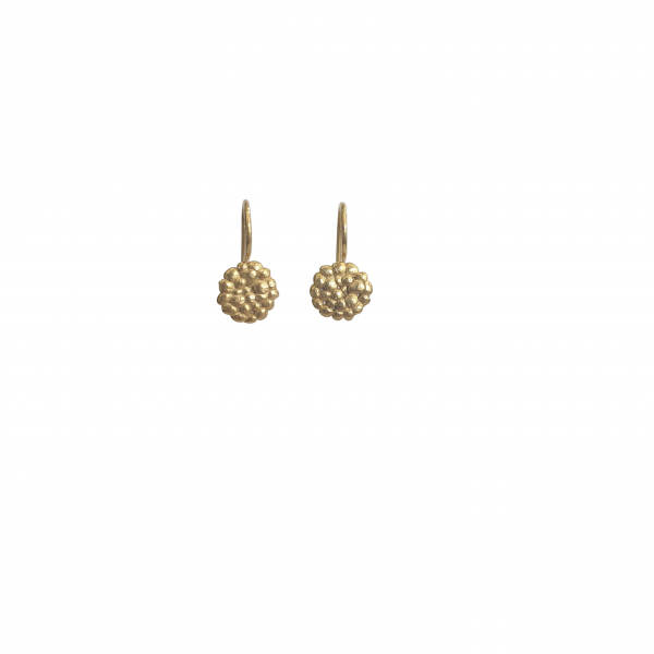 small gold drop pebble earrings