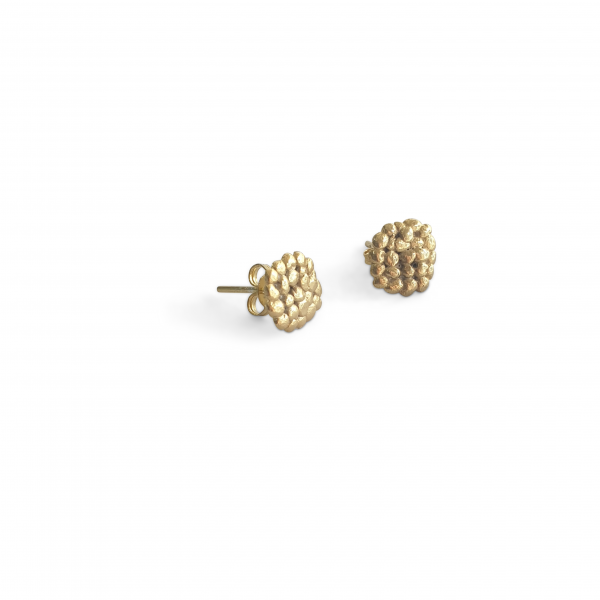 small gold plated pebble studs