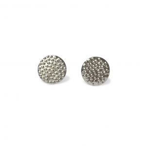 silver dotty stud earrings