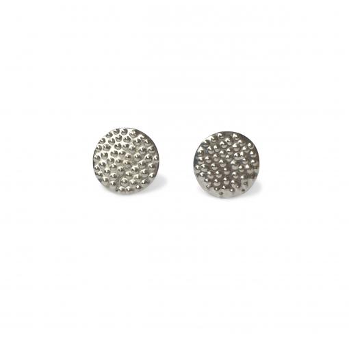 silver dotty stud earrings