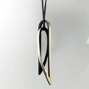 Arc continuum silver neckpiece