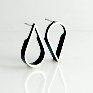 outline tear stud earrings