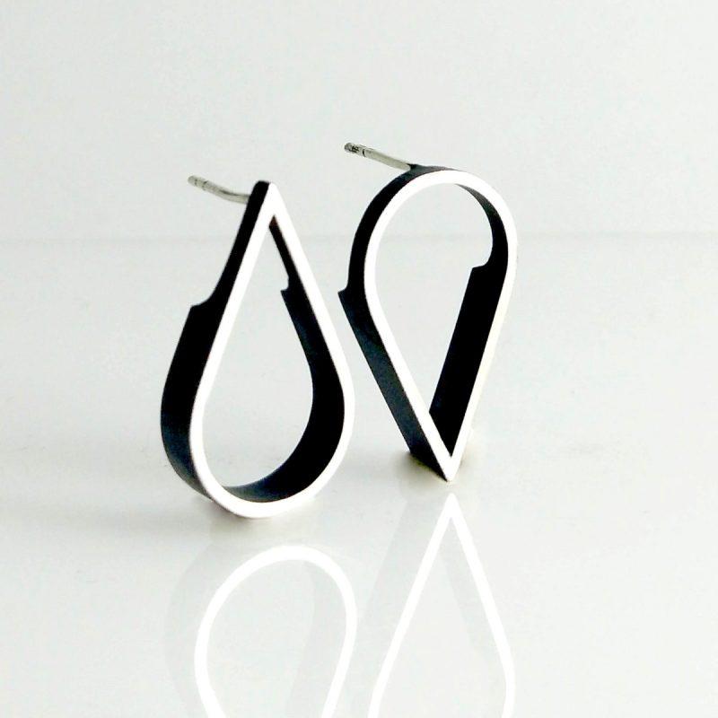 outline tear stud earrings