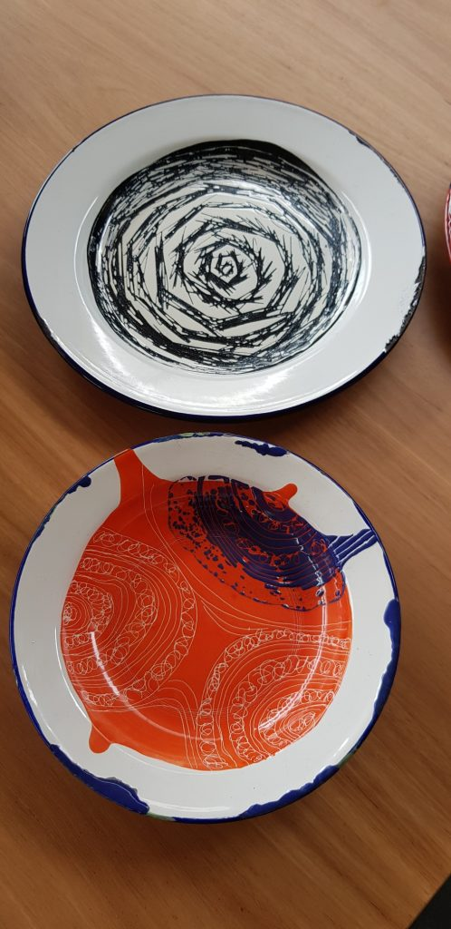 Kirsten Junor - (bottom) Re-scued 1 re-enamelled found bowl