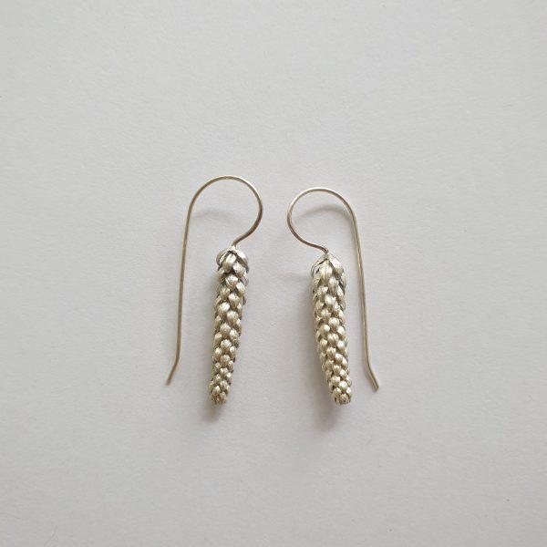 silver norfolk pine earrings