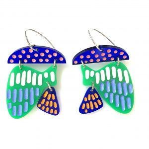 grace hummerston blue green bue earrings