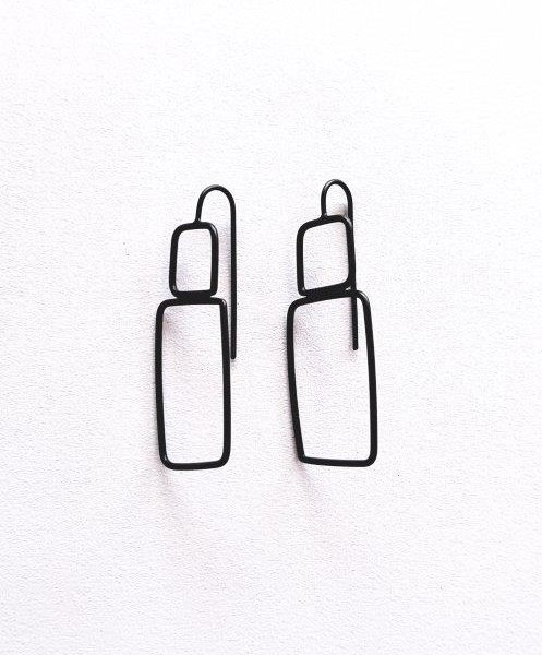 lisa furno ox silver wire earrings