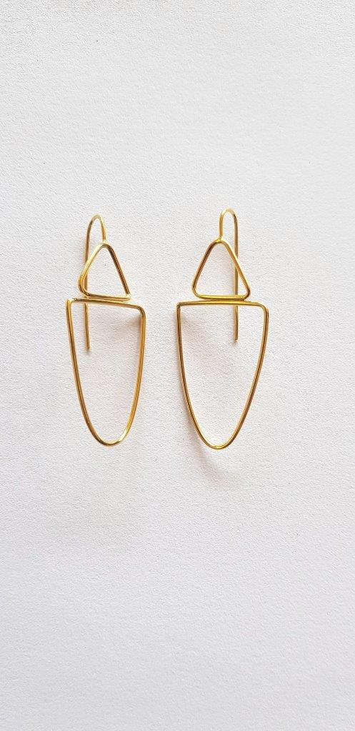 lisa furno gold plated silver earrings