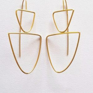 isa furno medium gold plated earrings