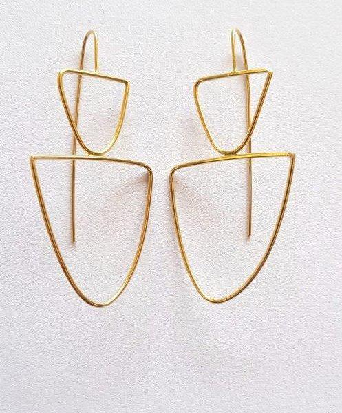 isa furno medium gold plated earrings