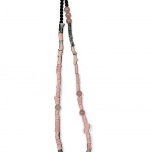 pink and grey neckpiece