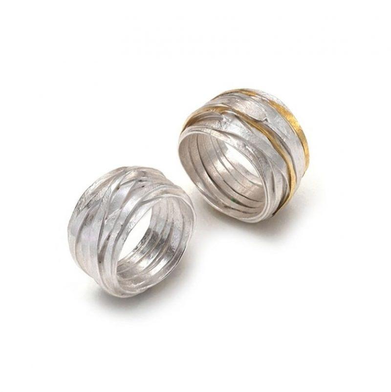Shimara Carlow gold and silver rings