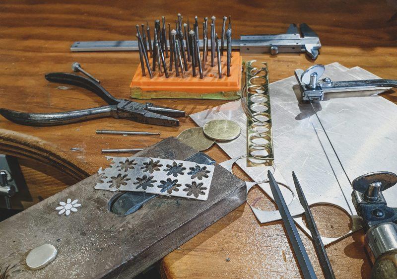 tools and materials workshop set up